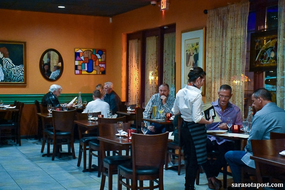 Friends and family enjoyed the Blase Bistro & Martini Bar in Sarasota, FL