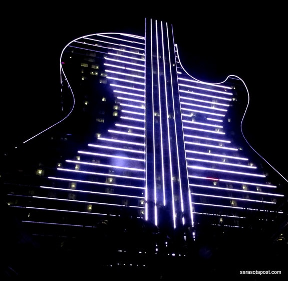 A light show every night at the new Hard Rock Live in Hollywood, FL