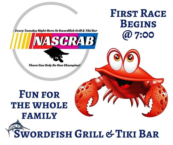 NASCRAB races at The Swordfish Grill & Tiki in Cortez, FL
