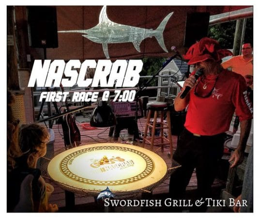 Greg Koeper brings crab races to the Swordfish Grill & Tiki in Cortez, FL