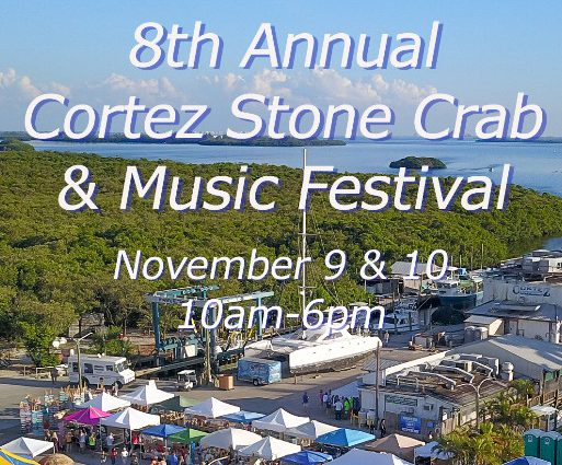 8th Annual Cortez Stone Crab & Music Festival is This Weekend!