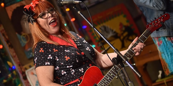 Chicago Blues Hall of Fame Artist, Liz Mandeville, will be at The Woman's Club in Bradenton, FL