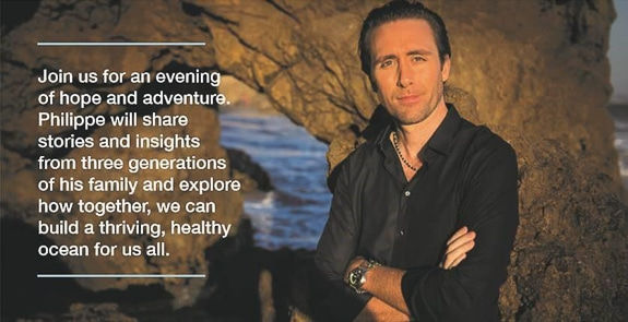 Philippe Cousteau Jr. will speak at The Center of Anna Maria Island, FL