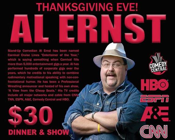 Comedian Al Ernst at Hotel Venezia in Venice, FL