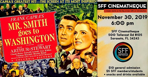SFF Cinematheque is playing Mr. Smith goes to Washington.