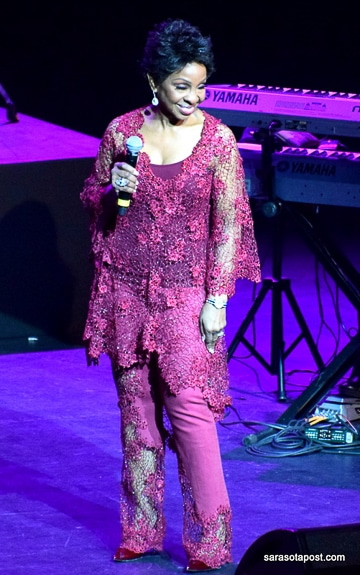 Gladys Knight at the Van Wezel Performing Arts Hall in Sarasota.