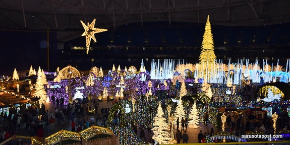 Enchant Christmas Brings the Holiday Spirit to Tropicana Field In St. Petersburg, FL
