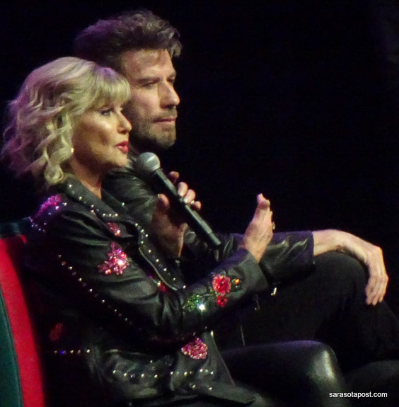Olivia Newton-John and John Travolta made their appearance at Meet 'n' Grease event in Tampa, FL