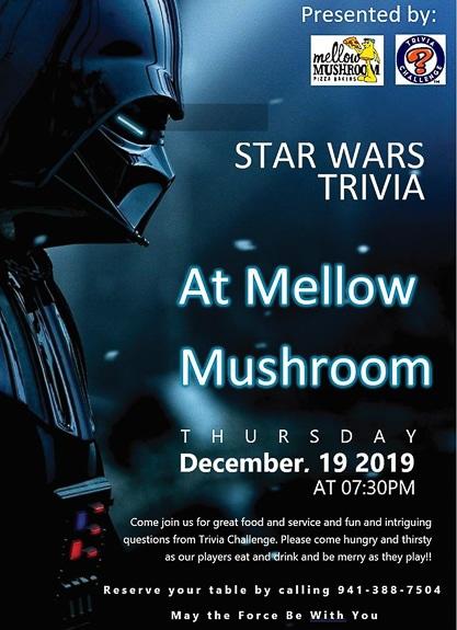 Mellow Mushroom Sarasota has Star Wars Themed Trivia