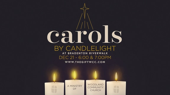 Carols by Candlelight at Bradenton Riverwalk Amphitheater