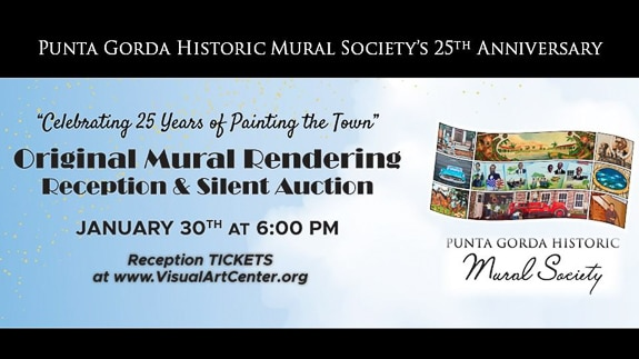 Historic Mural Society Reception & Silent Auction in Punta Gorda, FL