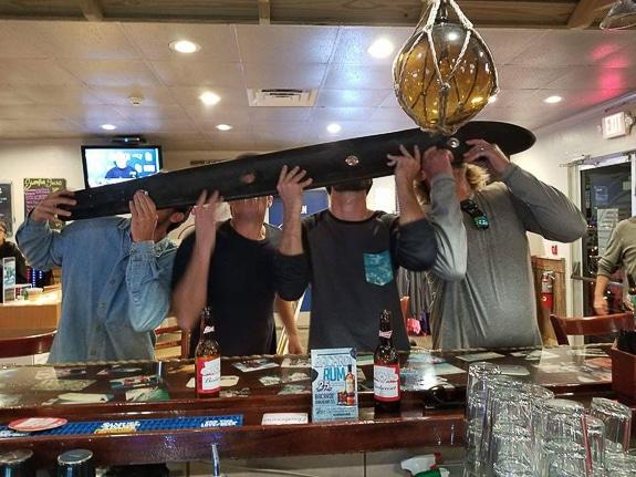 Flippin' Mullet Sports Bar has a 'shotski'!