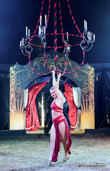 Amazing aerial performer at Cirque Ma'Ceo