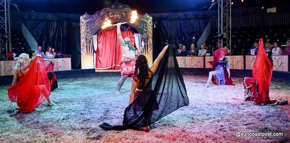Exciting Hawaiian Fire dancing at Cirque Ma'Ceo