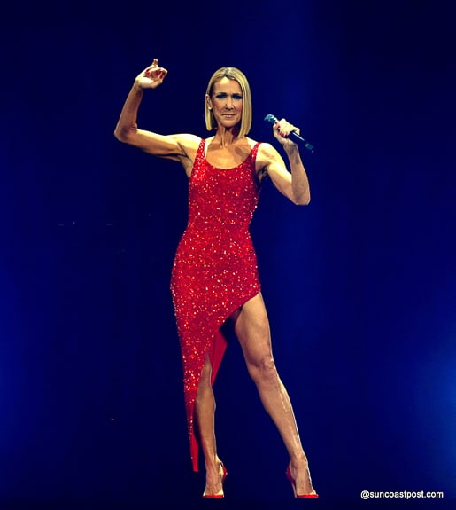 Celine Dion performs at Tampa's Amalie Arena
