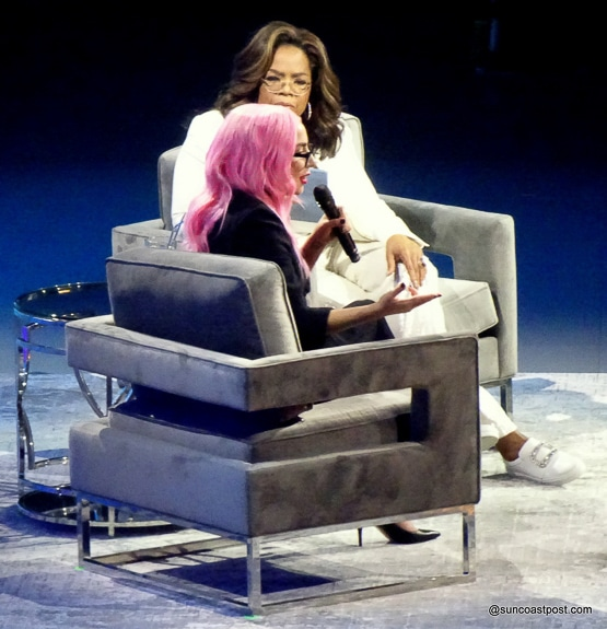 Special guest Lady Gaga at Oprah's Vision 2020 Tour
