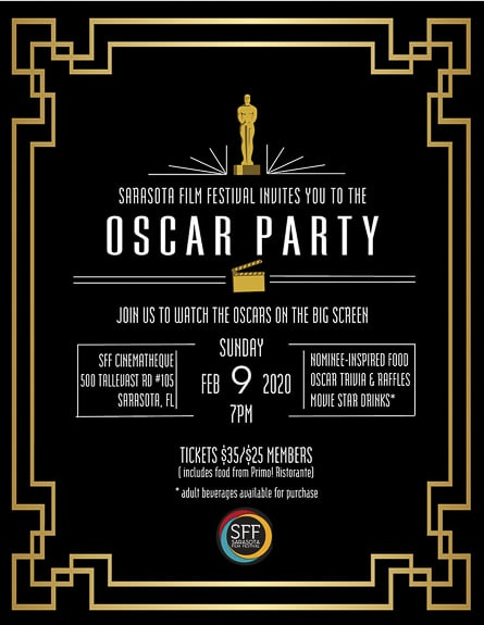 Invitation to the 2020 Oscar Party at SFF Cinematheque