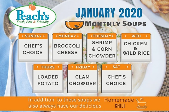 Peach's offers great soups!
