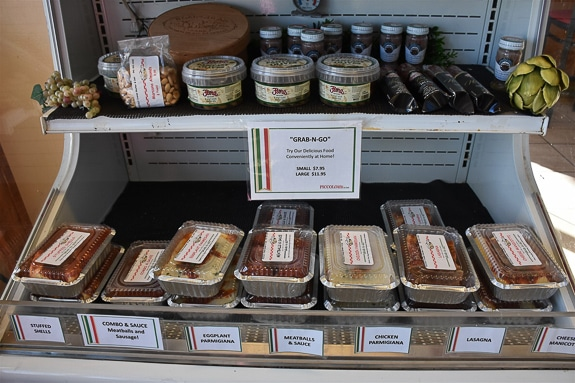 "Piccolo Deli in Sarasota has a ""Grab n Go"" section of home cooked meals."