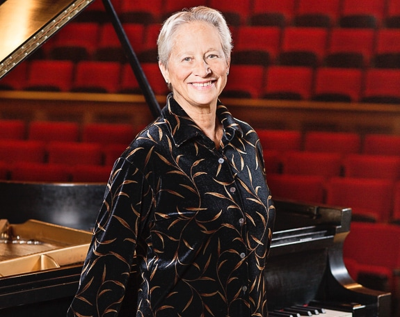 Rebecca Penneys, a renowned Steinway Artist.