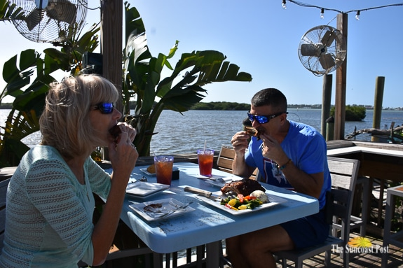Patrons of The Swordfish Grill & Tiki enjoying Ribs with a View!
