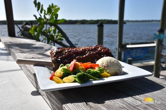 Delicious Ribs with a Tantalizing View at the Swordfish Grill & Tiki in Cortez, Florida!