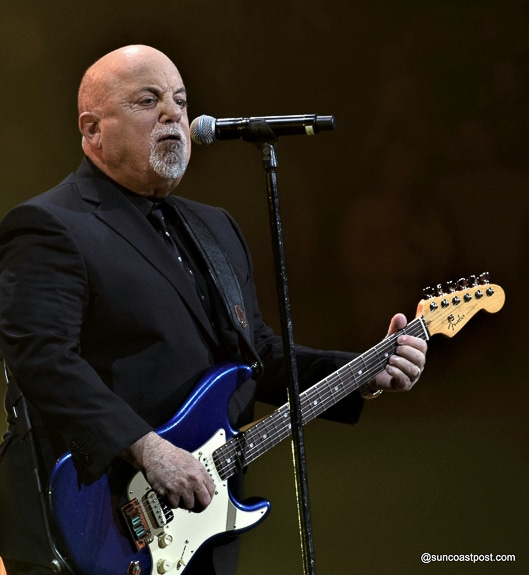 Billy Joel came out playing guitar at Amalie Arena in Tampa