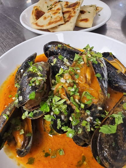 Curry Mussels are one of the featured signature items on Blasé Bistro's new lunch menu.