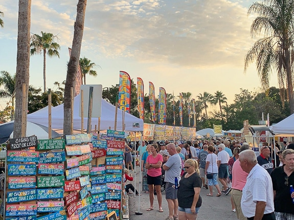 Lots of art and novelty vendors at Punta Gorda Seafood and Music Festival