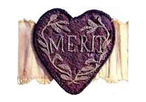 The original Purple Heart, designated as the Badge of Military Merit.
