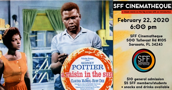 "SFF Cinematheque will screen ""A Raisin in the Sun"" in Sarasota, FL"