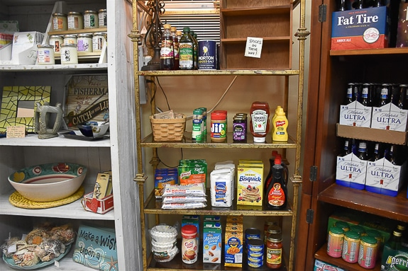 Grocery items are available at Bunny & Pirates in Cortez, FL