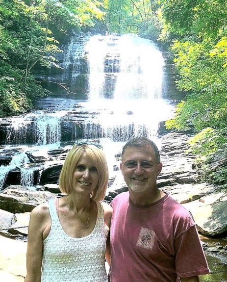Julie and Dan Hall - owners of WNC Mountain Rentals in Hendersonville, NC