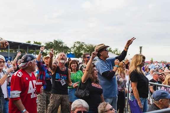 Bradenton Blues Festival crowd from 2019