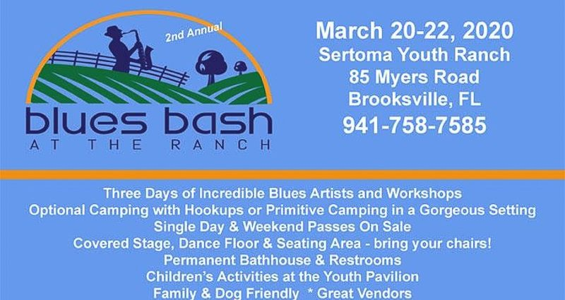 2nd Annual Blues Bash at the Ranch, Sertoma Youth Ranch in Brooksville, FL