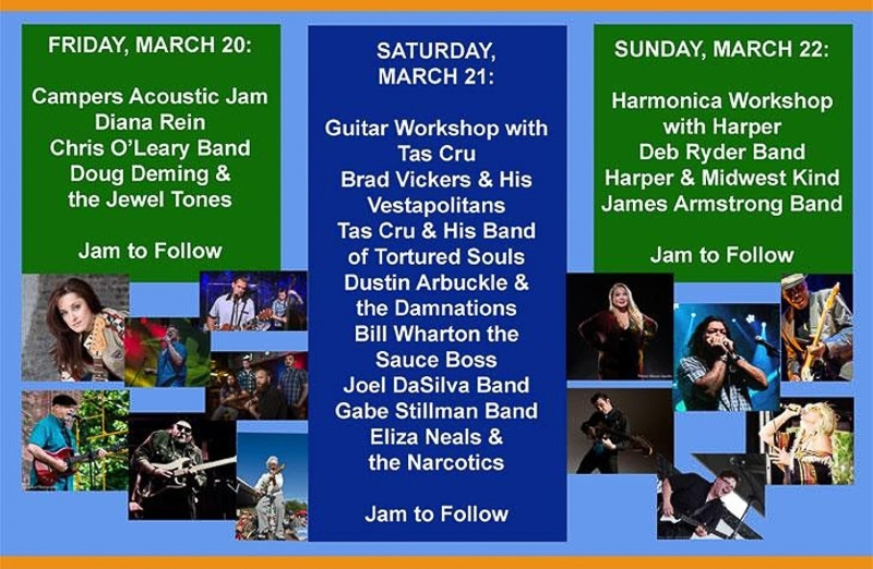 Entertainment at the Blues Bash in Brooksville, FL