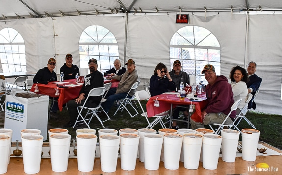 The judges tent with judges and chili