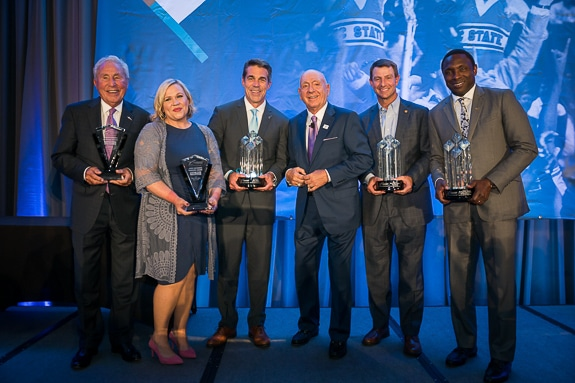 Dick Vitale and honorees and award recipients from 2019