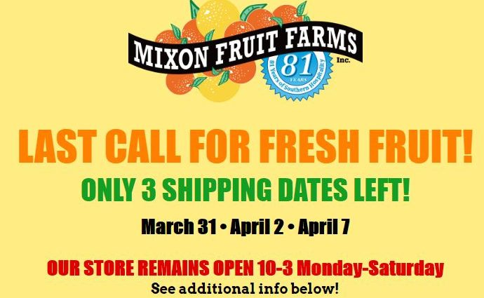"Mixon Fruit Farms in Bradenton, Florida- Last Chance to Order Oranges & Grapefruit ""On-Line"" Before Season is Over"