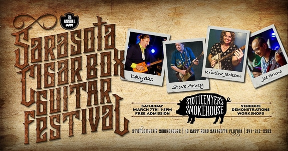 Sarasota Cigar Box guitar Festival at Stottlemyer's Smokehouse in Sarasota, FL