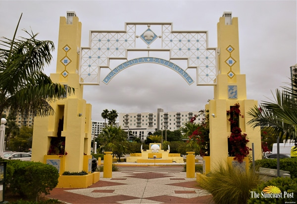 Bayfront Park entrance arches