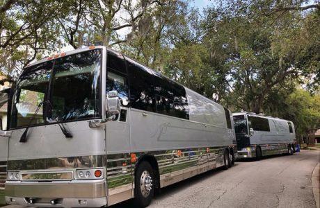 Decades Rewind tour busses