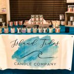 Island Tides Candle Company table of candles