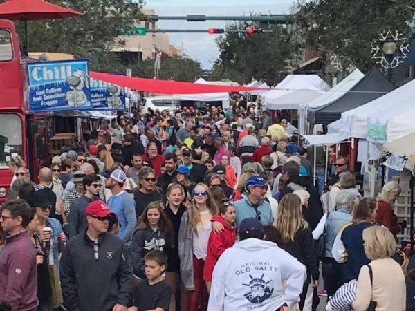 Crowd at Sarasota Farmers Market