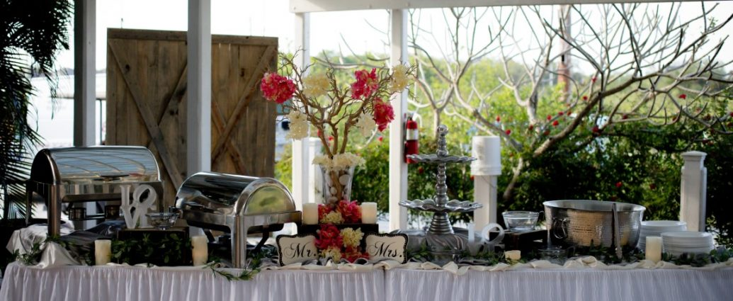 Table set up for a wedding at The Pavilion