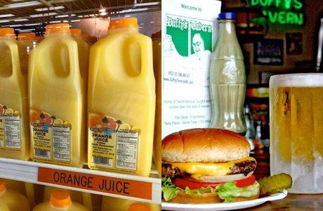 Vitamin C and a Duffy's Burger