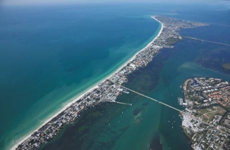 Aerial view of Anna Maria Island by Jack Elka