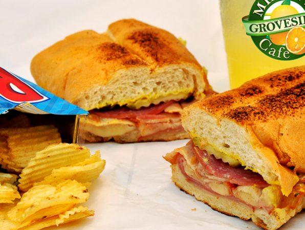 cuban sandwich at mixon fruit farms' groveside cafe