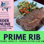 prime rib dinner from swordfish