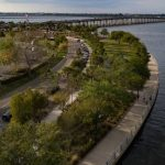 Aerial view of Bradenton Riverwalk